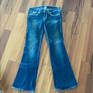 True religion jeans with rhinestone detail